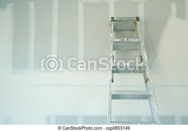 új, drywall, sheetrock - csp0853149