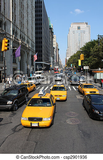 új, jellegzetes, forgalom, york, város - csp2901936