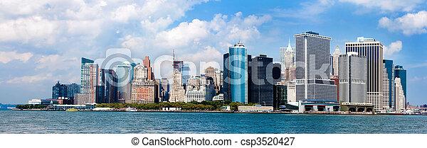 új, láthatár, város, york, panoráma - csp3520427