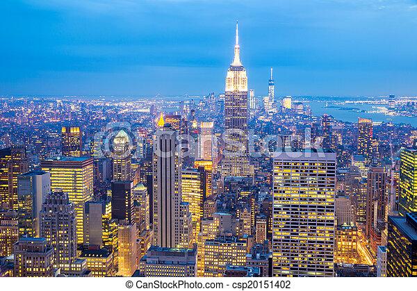 új, láthatár, york, város - csp20151402