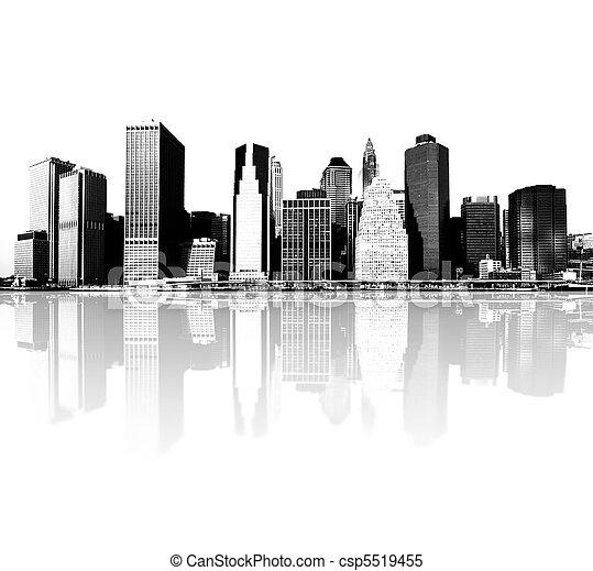 új, láthatár, york, város - csp5519455