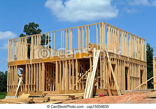 új, szerkesztés, épület - csp15504830