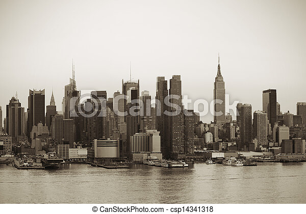új, város, manhattan, york - csp14341318