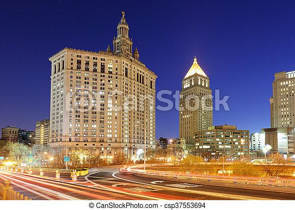 új, város, -, manhattan, york - csp37553694
