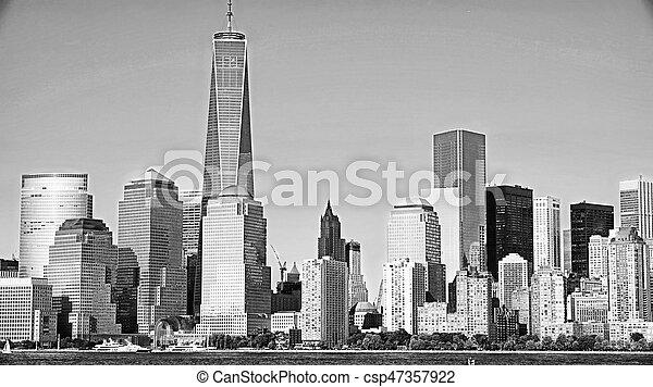 új, város, manhattan, york - csp47357922