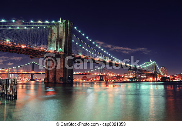 új, város, manhattan, york - csp8021353
