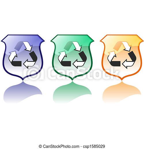 újrafelhasználás, magas, állhatatos, minőség, ikonok - csp1585029