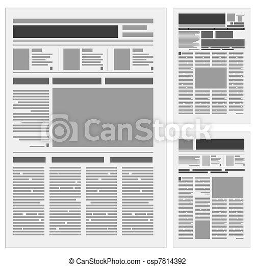 újság, állhatatos, dermedt - csp7814392