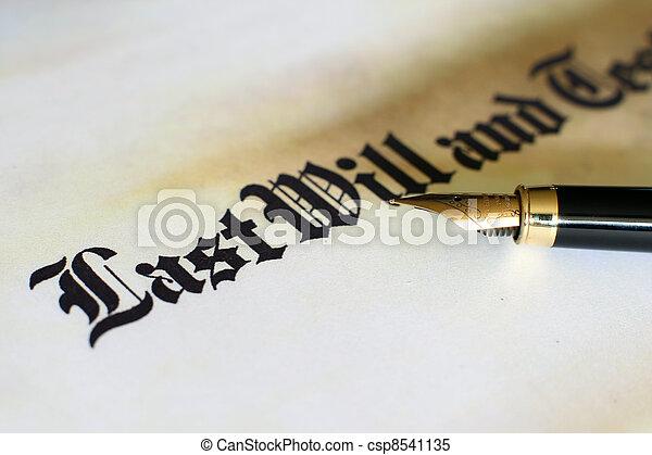 último, testamento, vontade - csp8541135