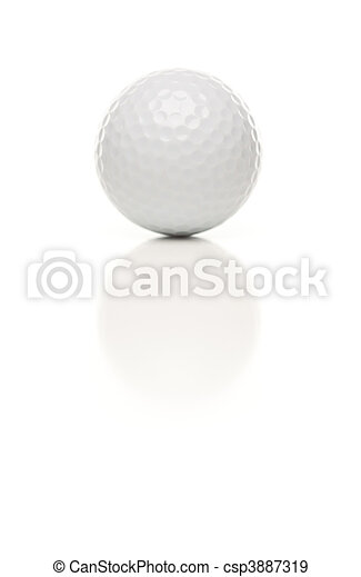 único, bola, golfe, branca - csp3887319
