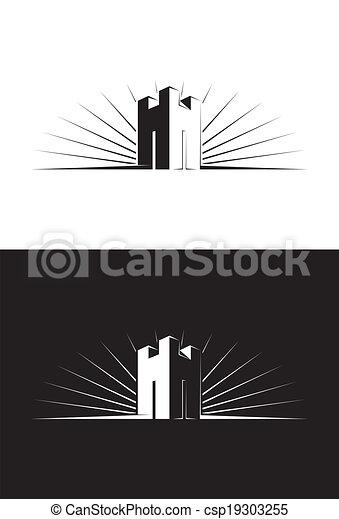 único, castelo, torre - csp19303255