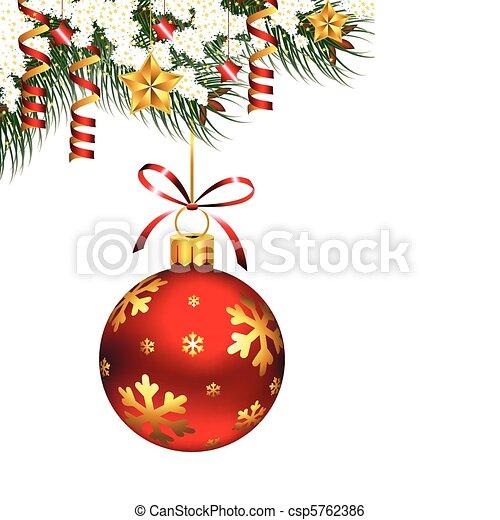 único, ornamento, natal - csp5762386