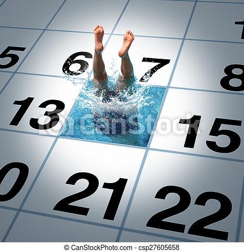 úszás, idő - csp27605658