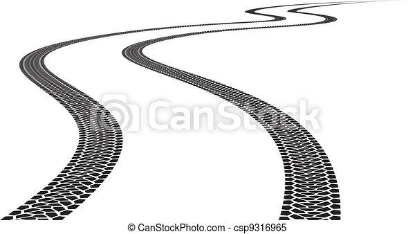 útvonal, autógumi - csp9316965