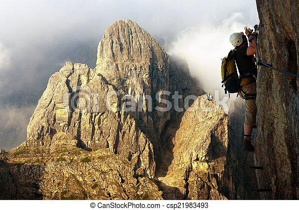 Klettersteig Weibl : Über italien ferrata bergsteiger klettersteig oder