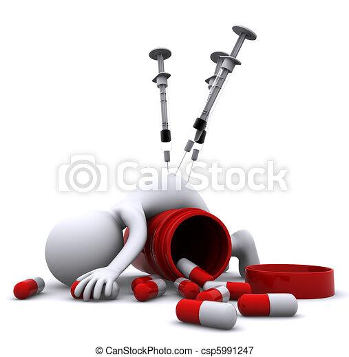 Drogenüberdosis-Konzept - csp5991247