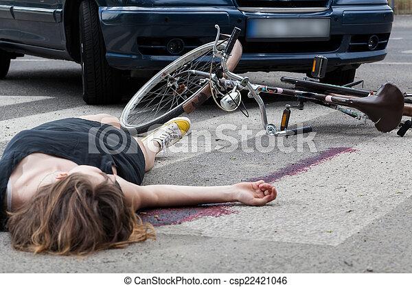 Unfall am Fußgängerübergang - csp22421046