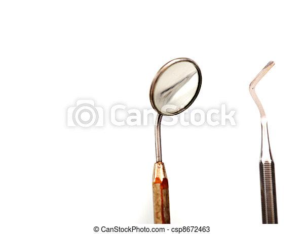 überprüfung, reihe, verwandt, fotos, zahnarztes, z�hne - csp8672463