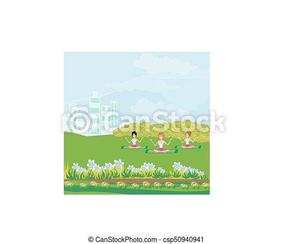 Exercises im Park - csp50940941