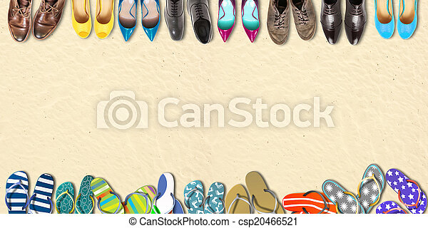 ünnepek, nyár, cipők - csp20466521