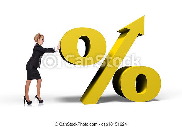 üzletasszony, rámenős, százalék - csp18151624