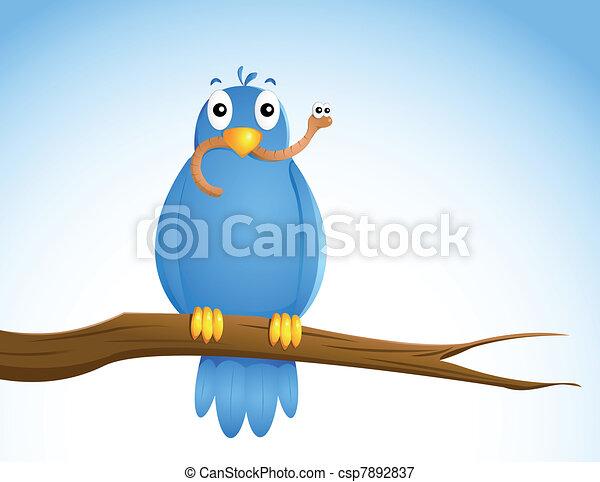 časný, bird.... - csp7892837
