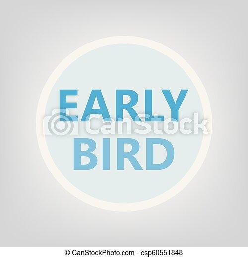 časný, pojem, ptáček - csp60551848