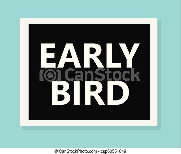 časný, pojem, ptáček - csp60551849