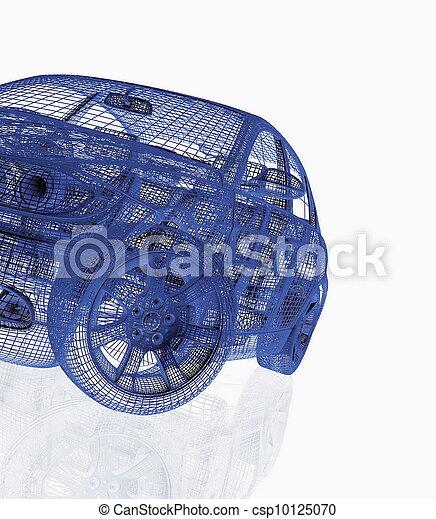 čelo, vůz, vzor, moderní, názor - csp10125070