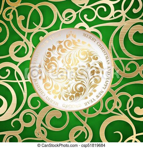 čerstvý, šťastný, card., rok - csp51819684