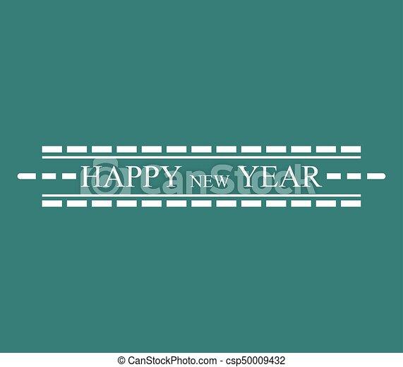 čerstvý, šťastný, rok - csp50009432