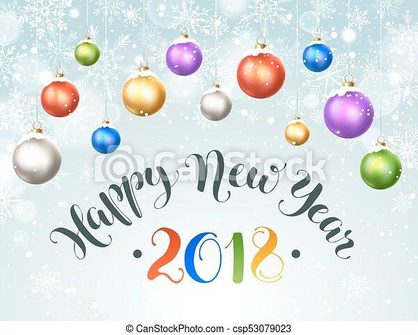 čerstvý, šťastný, rok - csp53079023