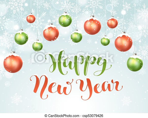 čerstvý, šťastný, rok - csp53079426