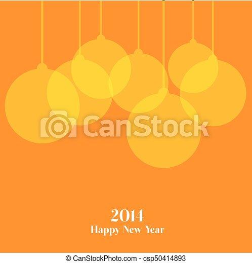 čerstvý, šťastný, rok - csp50414893