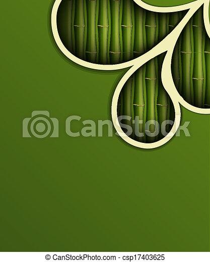 čerstvý, bambus, grafické pozadí - csp17403625