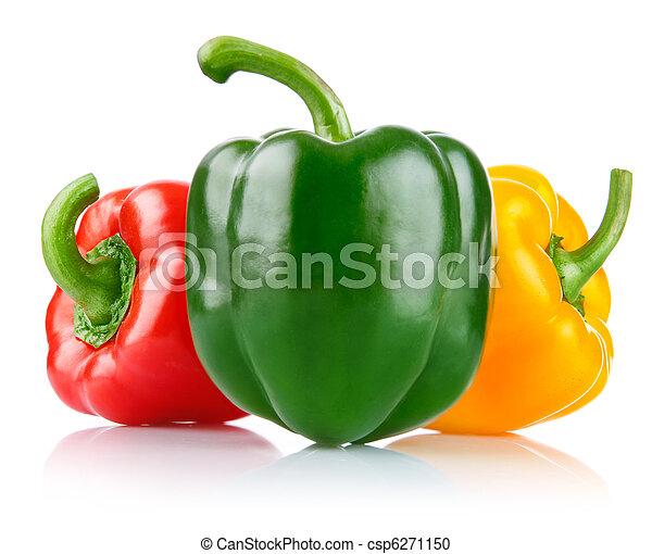 čerstvý, pepř, zelenina - csp6271150
