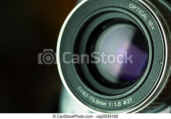 čočka, videokamera - csp0534160