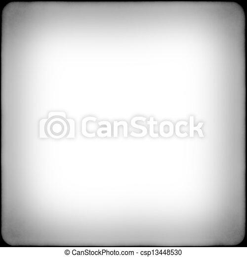 čtverec, konstrukce, čerň, neposkvrněný, vignetting, blána - csp13448530