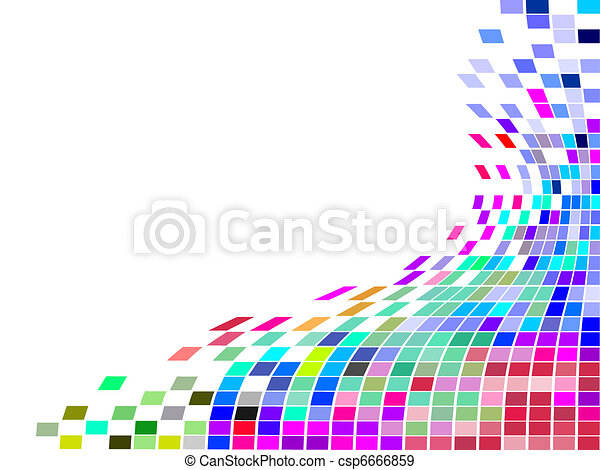 čtverec, mozaika - csp6666859