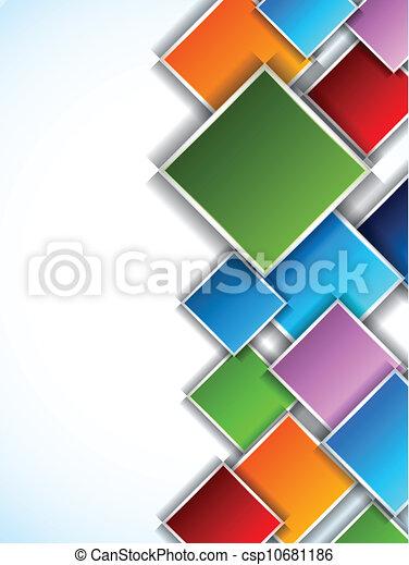 čtverhran, grafické pozadí - csp10681186