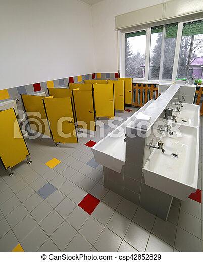 łazienka Bez Dzieci Preschool Ludzie
