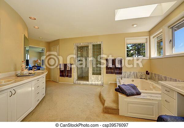 łazienka Długi Pan Wewnętrzny Biały Marmur Marność