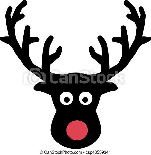 łoś, głowa, nos, czerwony - csp43559341