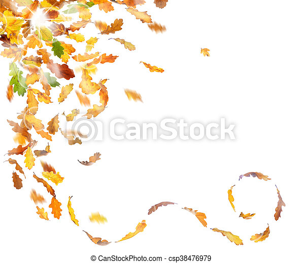 ősz, esik búcsú - csp38476979