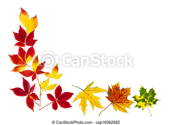ősz kilépő, keret, színes - csp16062682