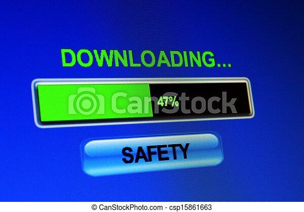 ściąganie, bezpieczeństwo - csp15861663
