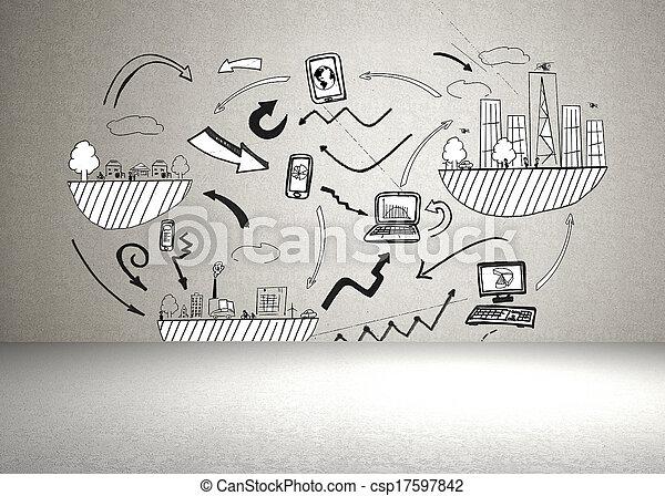 ściana, brainstorm - csp17597842