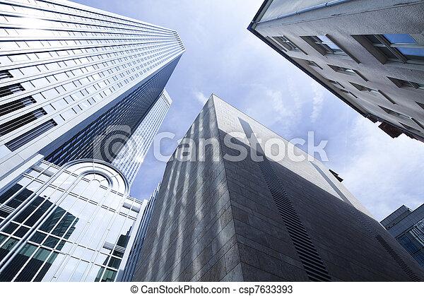 środek, handlowy, drapacze chmur, szkło - csp7633393