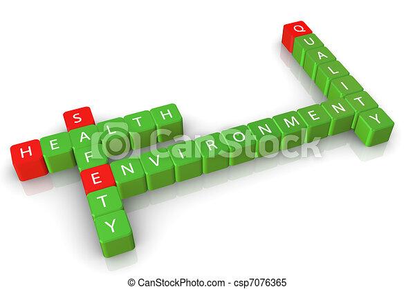 środowisko, bezpieczeństwo, zdrowie, jakość - csp7076365