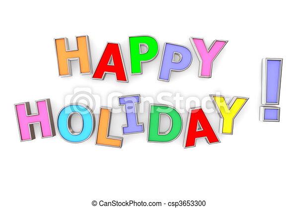 święto, barwny, szczęśliwy - csp3653300